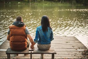 couple getting to know each other after recovery