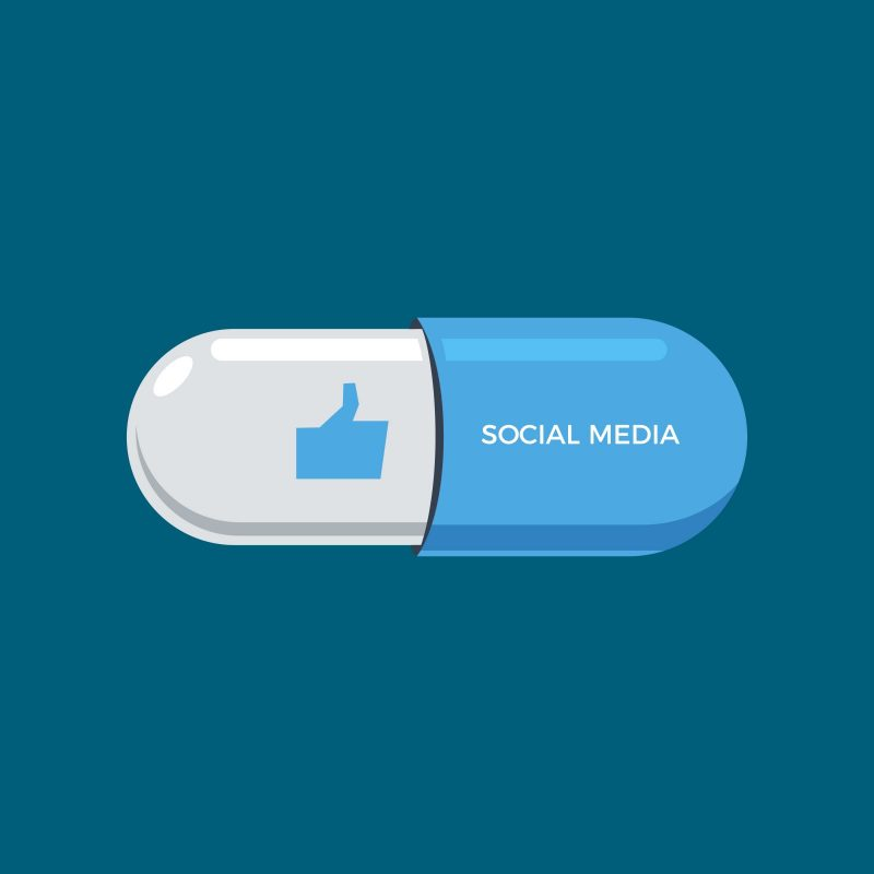 link between social media and drug addiction