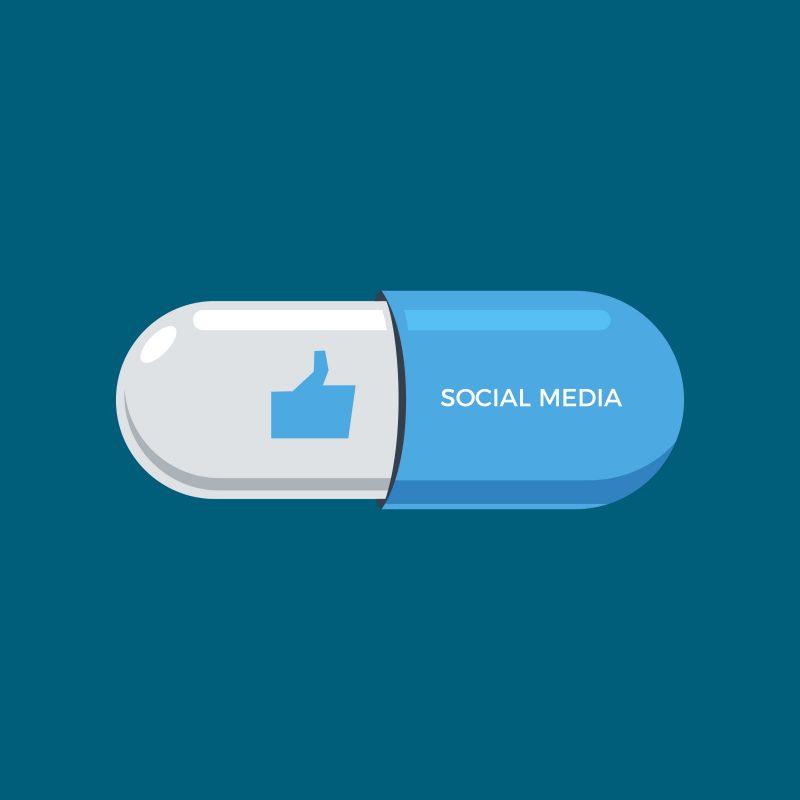link between social media and drug addiction